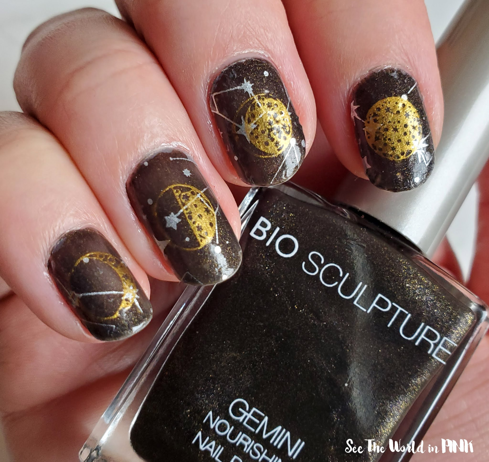 Manicure Monday - Moon and Stars Nails