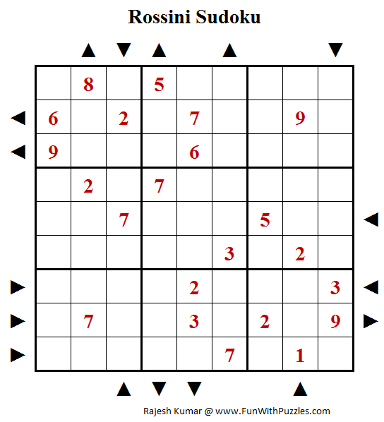 Rossini Sudoku Puzzle (Fun With Sudoku #229)
