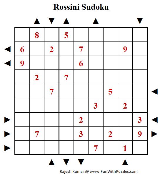 Rossini Sudoku Puzzle (Fun With Sudoku #229)