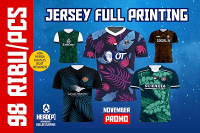 Diskon Akhir Tahun ! Bikin Jersey Full Printing Cuma 98 Ribu Promo Berbatas Waktu