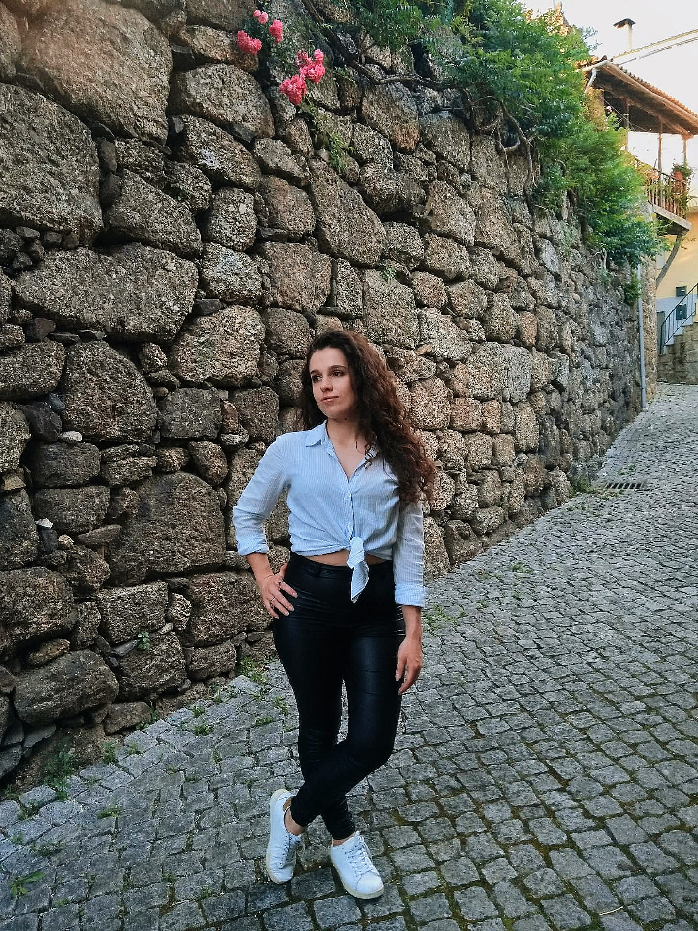 OOTD - Shirt + Leather Jeans