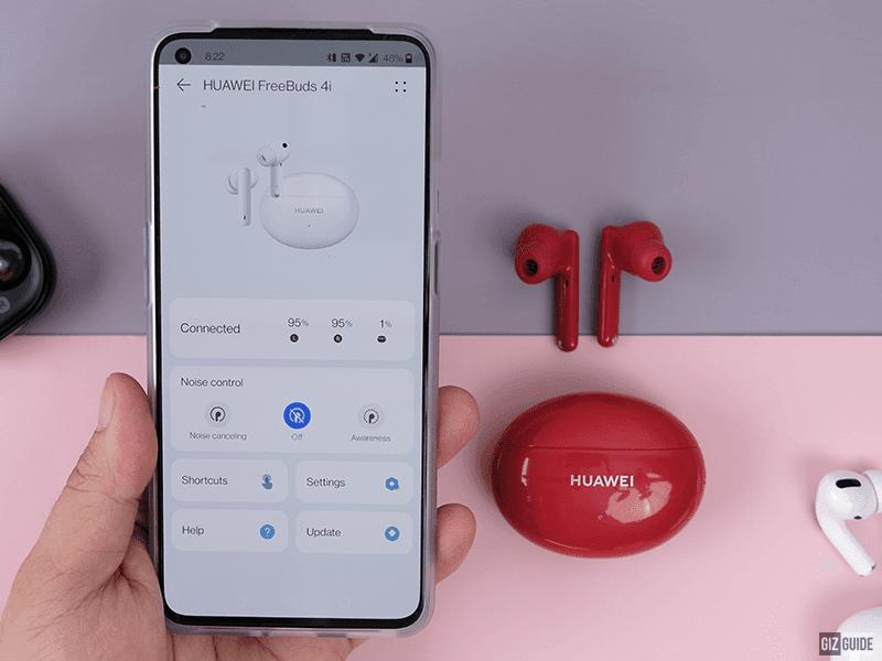 Huawei FreeBuds 4i and AI Life app