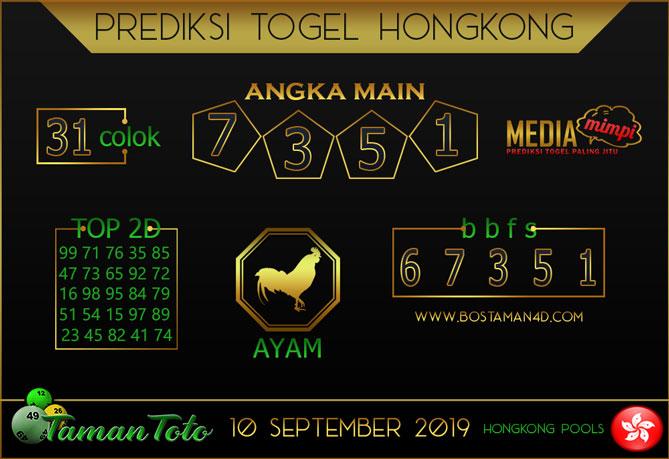 Prediksi Togel HONGKONG TAMAN TOTO 10 SEPTEMBER 2019
