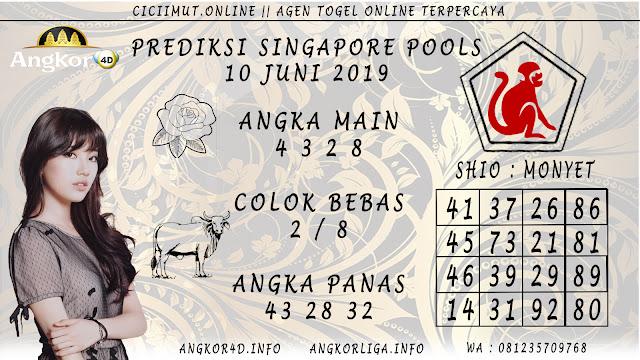 PREDIKSI SINGAPORE POOLS 10 JUNI 2019