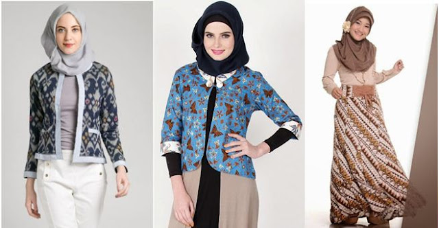 Model Baju BatiK Muslim Hangout