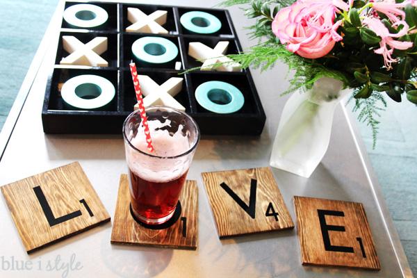 Valentine's Day Scrabble Tile Coasters
