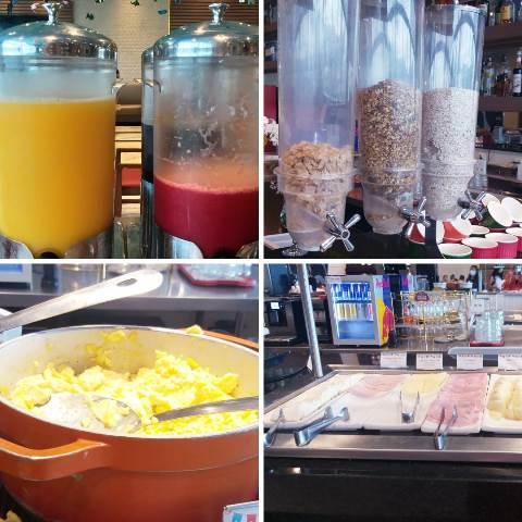 Variedades no café da manhã no Ramada Hotel Recreio Shopping
