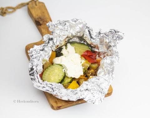 Vegetable Bundles with Ricotta