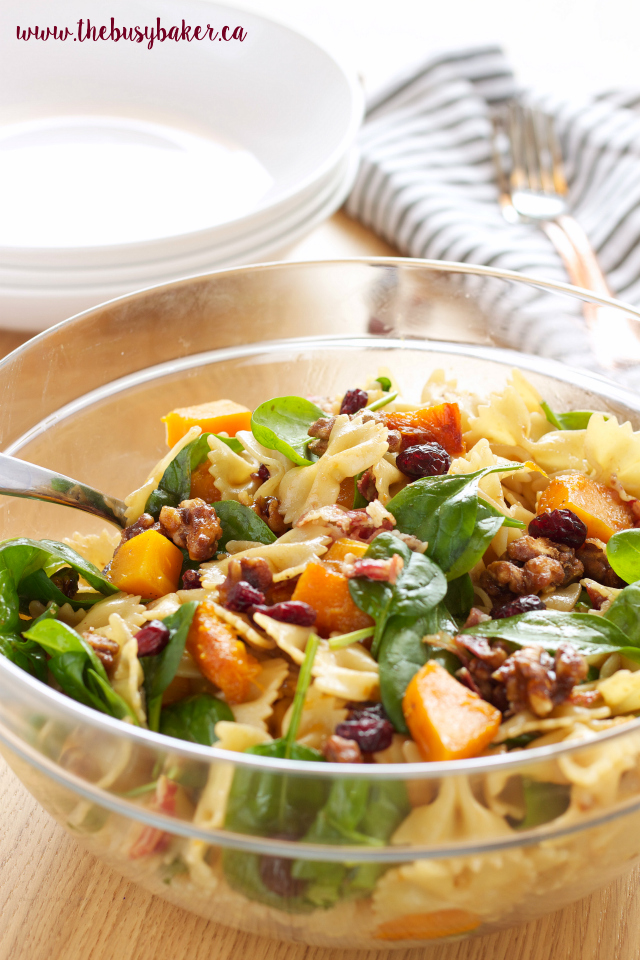 Butternut Squash Pasta Salad with Cranberries, Pancetta and Candied ...