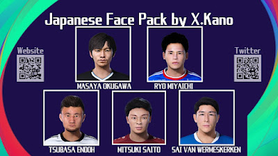 PES 2021 Japanese Facepack 3 by X. Kano