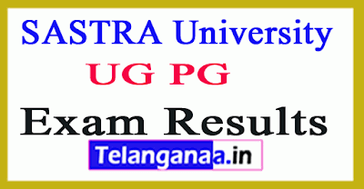 Sastra University UG PG Results