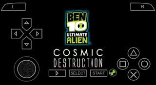 Ben 10 Ultimate Alien Cosmic Destruction ISO PPSSPP