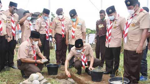 Pembangunan Musala Pramuka Kota Padang di Lubuk Minturun Dimulai