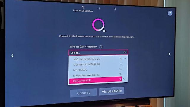 cara setting smart tv lg ke wi-fi