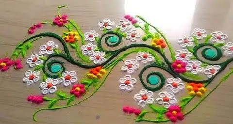 hard rangoli for doors