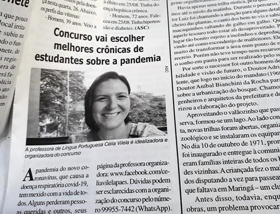 Concurso foi notícia no Jornal do Povo. Café com Jornalista