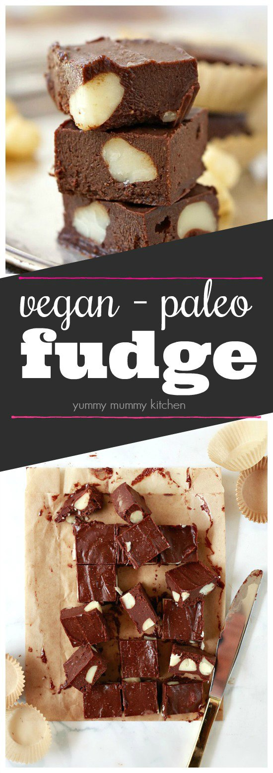 This raw vegan freezer fudge recipe is so easy and delicious! It's made with natural ingredients like cashew butter and maple syrup. #vegan #glutenfree #paleo