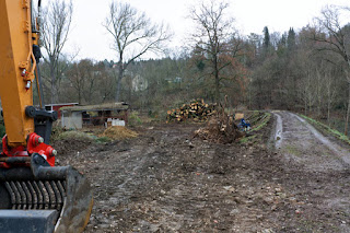 Hochwasserschutz Deich Baumaßnahme Bischleben
