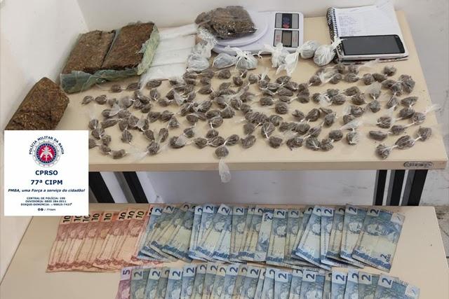 Polícia Militar desmonta ponto de tráfico de drogas em Vitória da Conquista