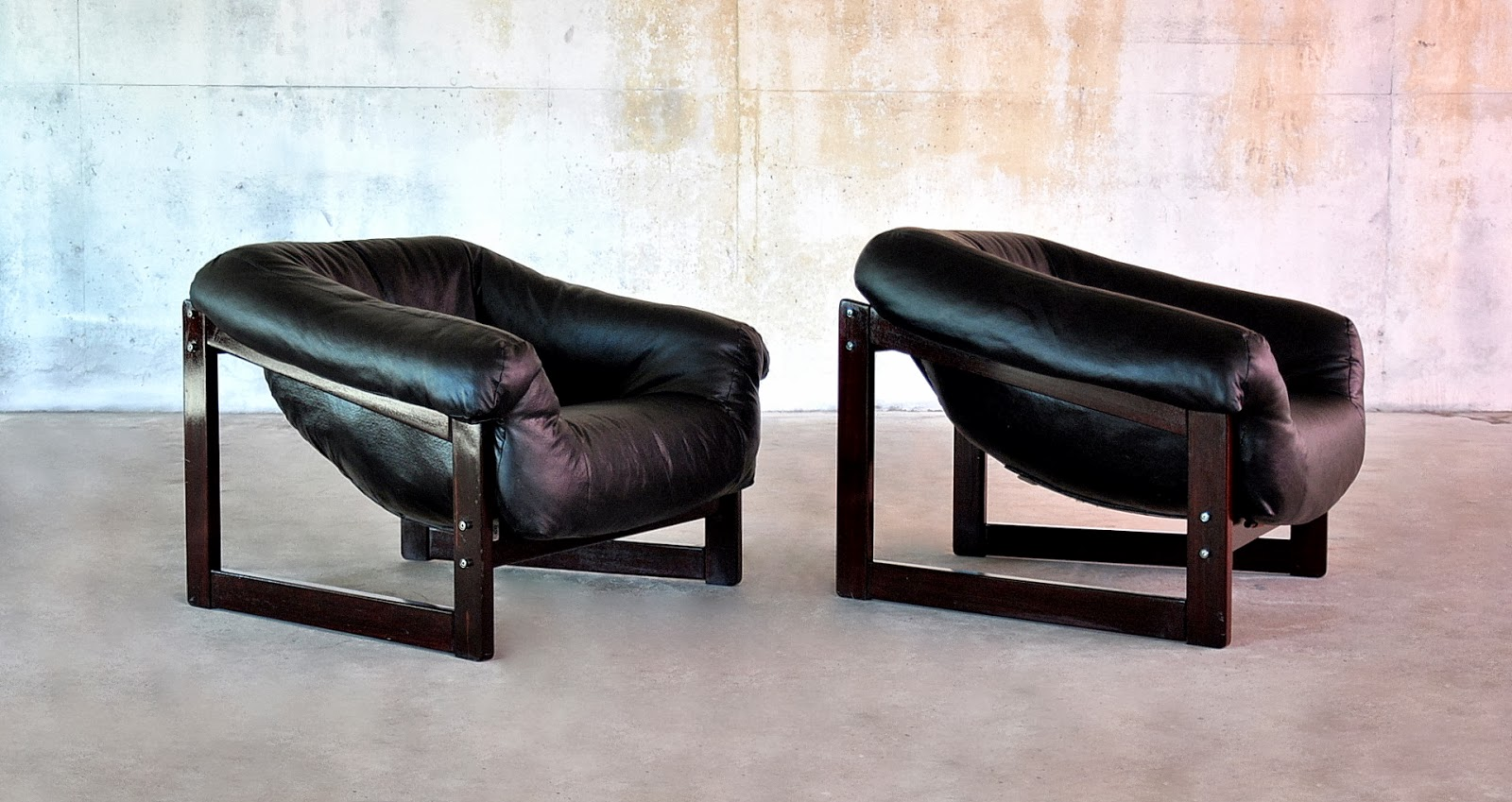 Select Modern Pair Of Percival Lafer Lounge Club Chairs