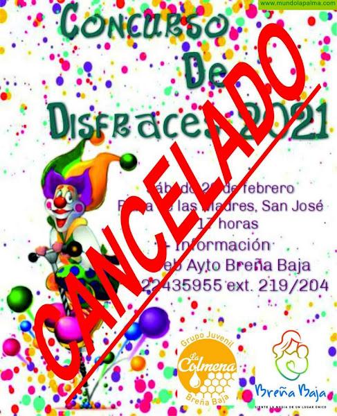 BREÑA BAJA: Se cancela el Concurso de Disfraces