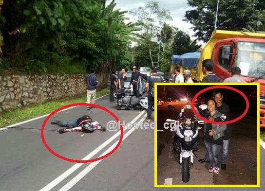 Sayu : Selamat jalan sayang .. Dijemput ajal diselekoh Kawasaki Versys nya rempuh lori (8 Gambar)
