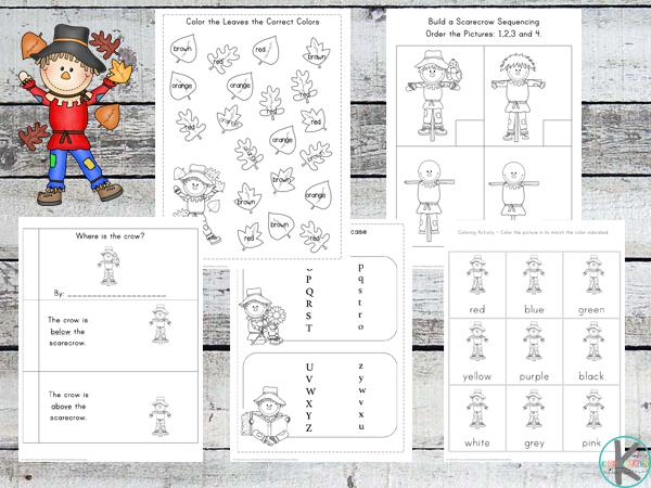 scarecrow preschool pack