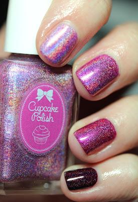Cupcake Polish Pink ombre nail polish