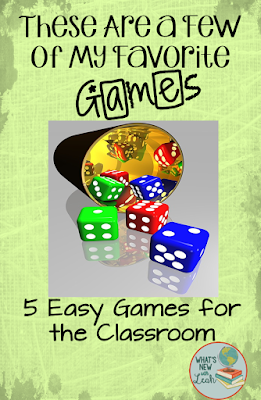 Classroom games are a fun way to extend learning and review material. As much as I love the ol' Jeopardy standby, I've started implementing five other classroom games into my instruction. These five include Trivia, the Fly Swatter Game, Face-Off, Quiz-Quiz-Trade, and Roll and Know. Read how to play each one in this post!