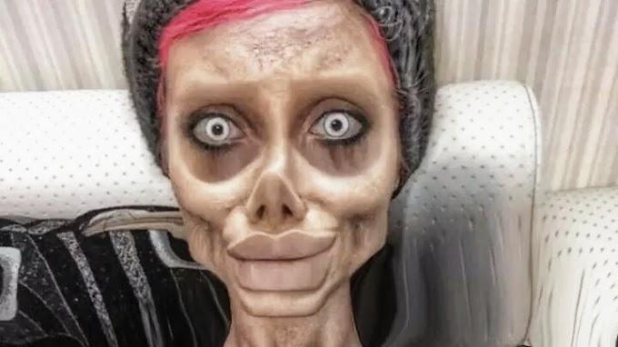 """Zombie"""" Angelina Jolie hospitalizada de emergência após apanhar covid-19 na prisão"""