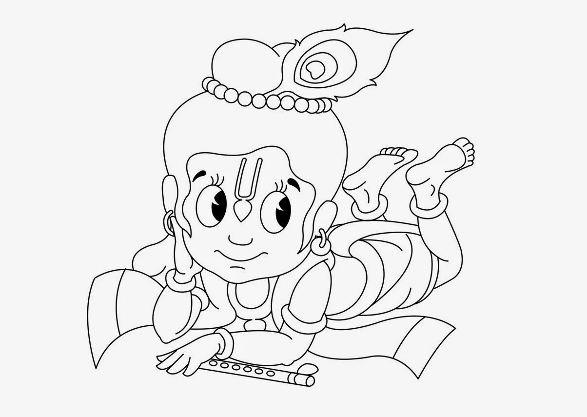 Colour drawing free hd wallpapers little krishna for kid for Coloring pages of krishna