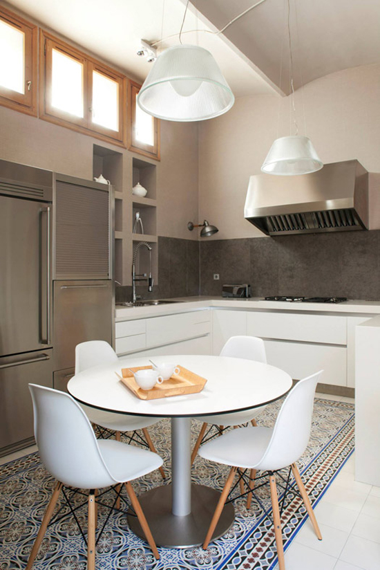 Contemporary kitchens with cement tiles| Design by Meritxell Ribé.