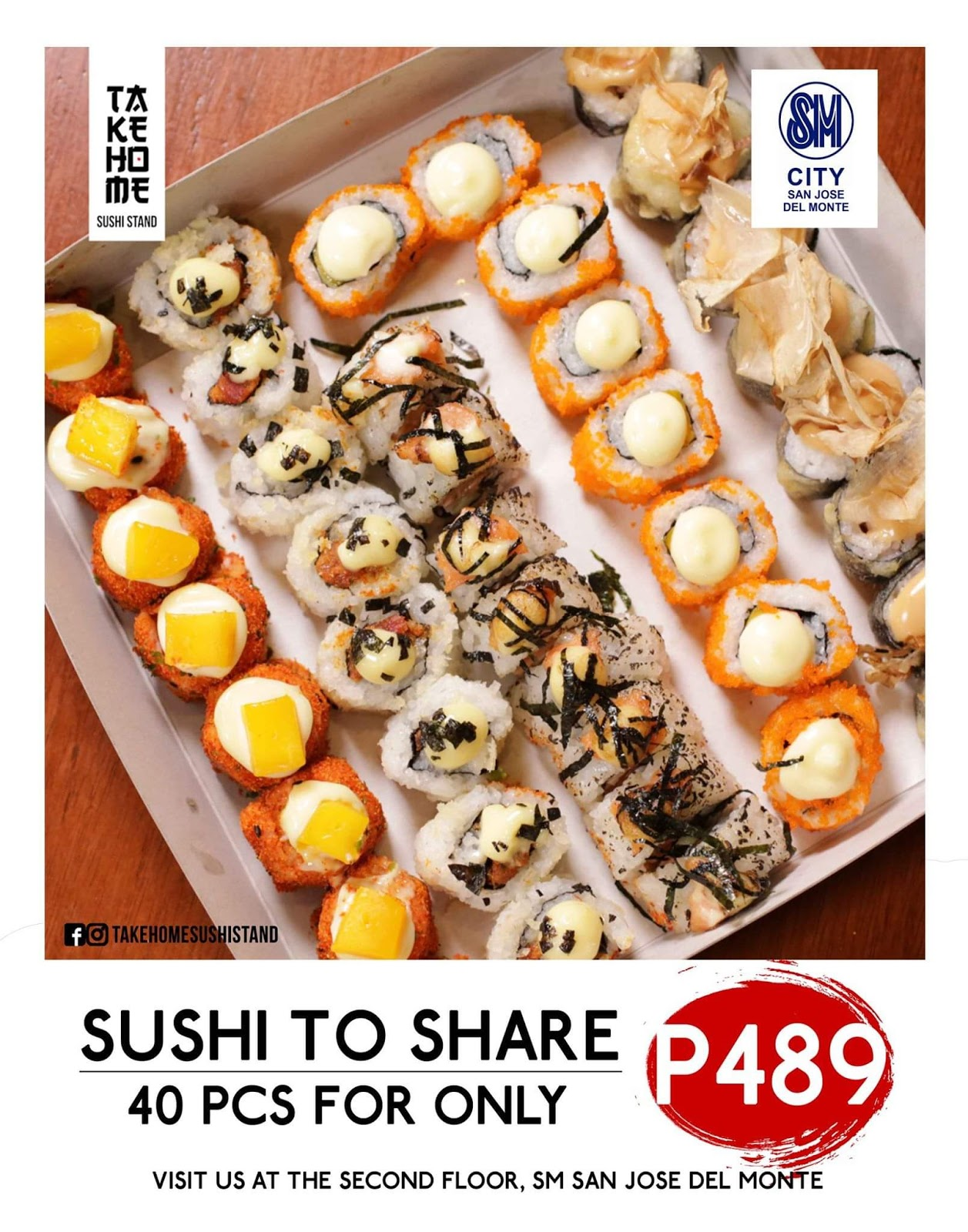 Admirable Ta Ke Ho Me Sushi Stand O Fish Ally Rolling At Sm City San Download Free Architecture Designs Scobabritishbridgeorg