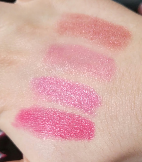 swatch crayon gloss smoothy rose intense beige nude nude fuchsia
