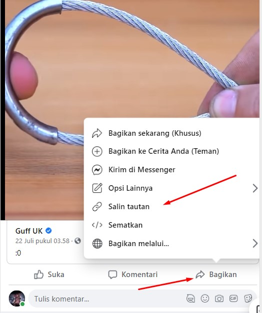 ini dia cara download video dari facebook