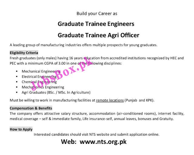 Graduate Trainee Engineers and Graduate Trainee Agri Officers Jobs 2021 via NTS