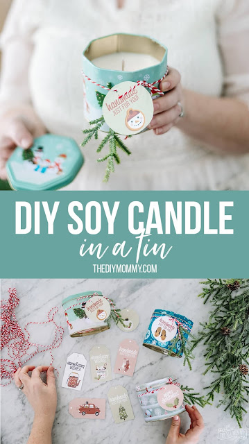 DIY Soy Candle Free Printable Gift Tags