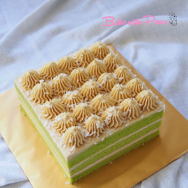 Pandan Cake with Gula Melaka Buttercream