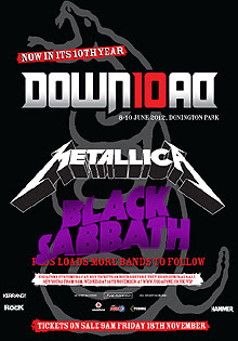 Black Sabbath y Metallica al Download Festival 2012
