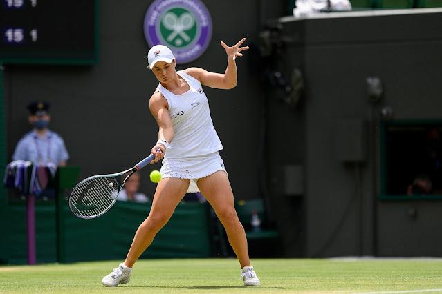 Ashleigh Barty chega pela primeira vez nas quartas de Wimbledon