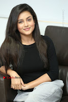Telugu Actress Mishti Chakraborty Latest Pos in Black Top at Smile Pictures Production No 1 Movie Opening  0196.JPG