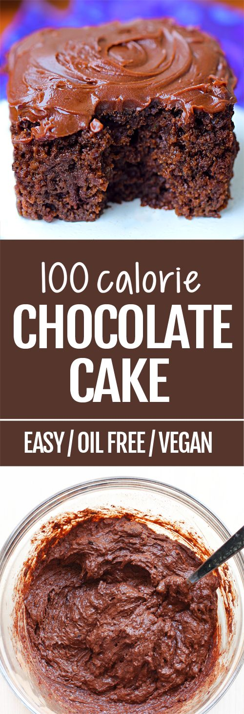 100 Calorie Healthy Chocolate Cake