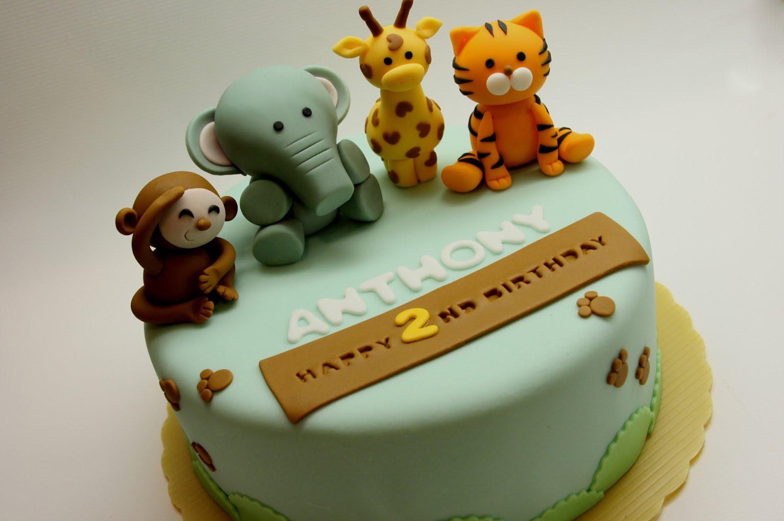 Beautiful Kitchen Safari Animal Cake For Anthony S 2nd