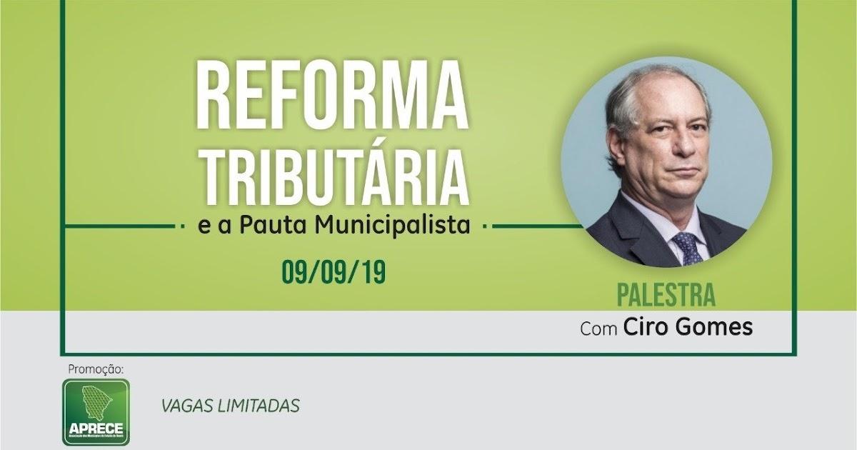 Resultado de imagem para Aprece realiza Seminário sobre Reforma Tributária com palestra de Ciro Gomes