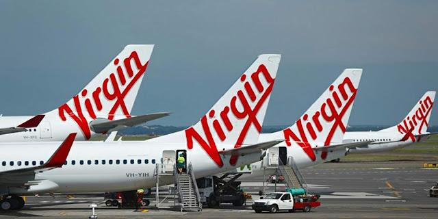 شركة الطيران فيرجن Virgin airlines أستراليا  تعلن افلاسها بسبب كورونا