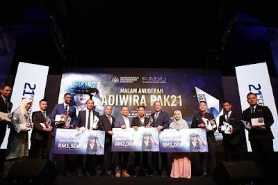 Senarai Top 10 Adiwira #PAK21 di Malaysia 2019