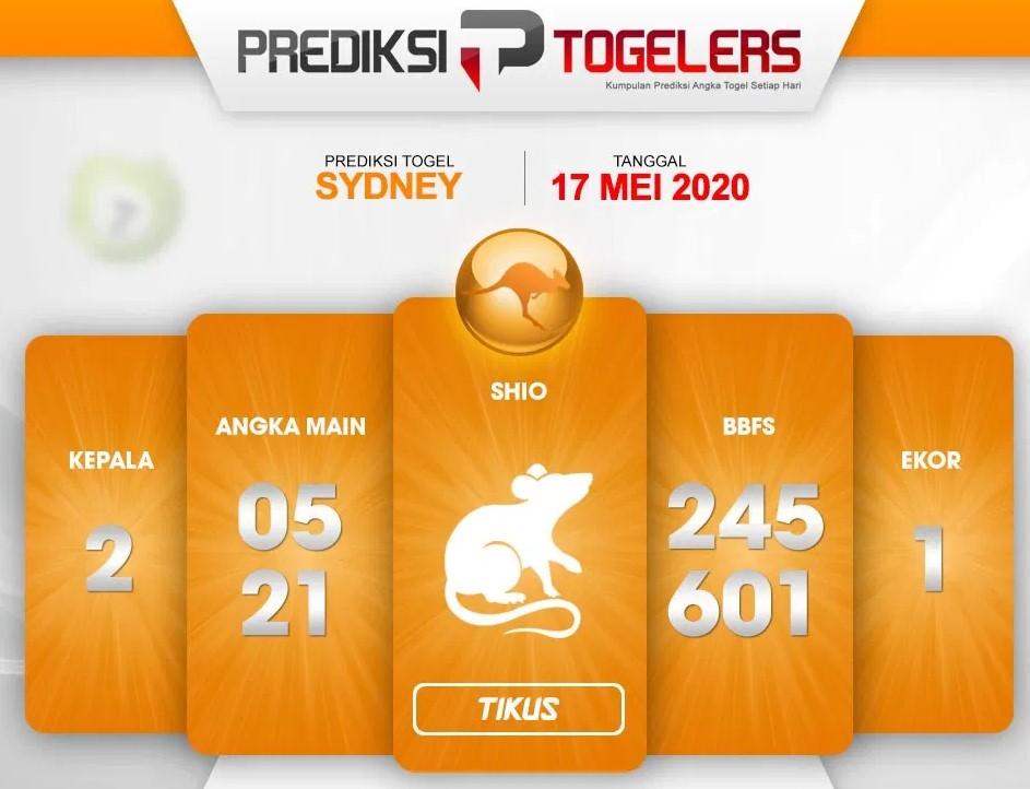 Prediksi Togel Sydney Minggu 17 Mei 2020 - Prediksi Togellers