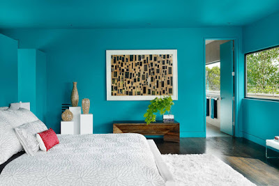 cyan wall paint relaxing living room paint colors