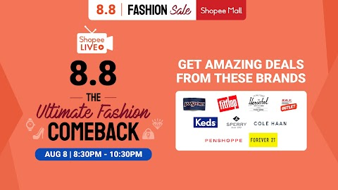 Shopee Celebrates 8.8 with the Ultimate Fashion Show Exclusively on Shopee Live