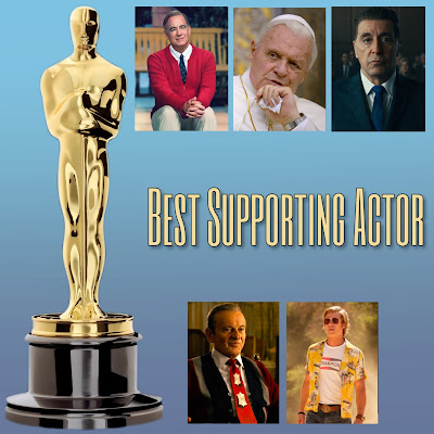 Photo: Brad Pitt, Joe Pesci, Al Pacino, Tom Hanks, and Anthony Hopkins Academy Award predictions for Best Supporting Actor